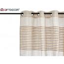 beige striped striped curtain