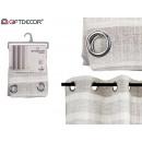 light gray striped curtain 140x260 cm