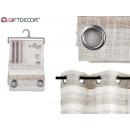 dark gray striped curtain 140x260 cm