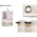 light brown striped curtain 140x260 cm