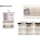 dark brown striped curtain 140x260 cm