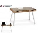 clear desk white legs byron