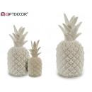 resina bianca ananas 48 cm