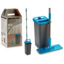 Großhandel Haushalt & Küche: Set Würfel l 2 Funktionen blau mit Mopp