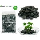 2kg schwarz polierte Steintasche klein