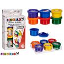 Großhandel Geschenkartikel & Papeterie: Satz von 6 Dosen malen Fingerfarben 6 mal