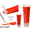 75ml red acrylic paint tube