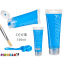 Acrylic paint tube 120ml light blue