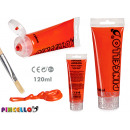 120ml red acrylic paint tube