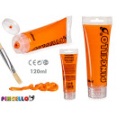 120ml acrylic paint tube orange