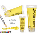 120ml acrylic paint tube yellow