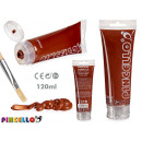 acrylic paint tube 120ml brown