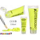 tube paint acrylic neon 120ml yellow