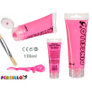 neon 120ml acrylic paint tube pink