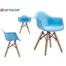 blue children's armchair