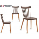 wholesale furniture: chair gray wood legs natural wood