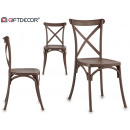 chaise lame dossier bois gris