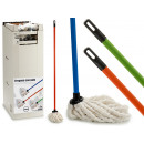 wholesale Cleaning: mop 120gr with stick 120cm colors 3 times surti