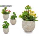 wholesale Artificial Flowers: gray ceramic pot green plant surt4