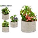 hurtownia Sztuczne kwiaty: doniczka ceramiczna triang zielona roślina 4 ...