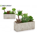 wholesale Artificial Flowers: pot ceramic rectangular green plant 2 times s