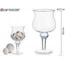 wide glass cup w / form