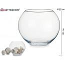 große runde Glasfischglas