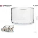 wholesale Flowerpots & Vases: Jarron glass cylinder width low