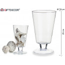 glass cup w / wide ball