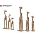 grossiste Cremes: lot de 3 petites girafes naturelles
