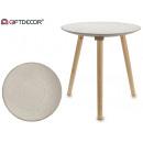 okrągły stół z białą kropką