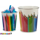 colored plastic bin, 2 times assorted