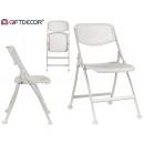 nagyker Bútorok: összecsukható fehér doblin szék