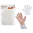 Set mit 100 trans Einweg-Plastikhandschuhen