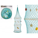décor panier rond 32x115cm coloris turquoise
