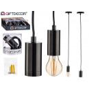 lampada a sospensione in acciaio nero