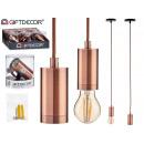 lampada a sospensione in acciaio bronzo