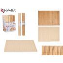 naturalna mata bambusowa 30x44 cm, 2 razy mieszany