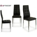 wholesale furniture: antisa black padded dining chair