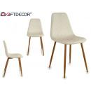 szék szintetikus bőr gyémántok fa lábak bla