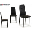 wholesale furniture: cathy black synthetic leather chair