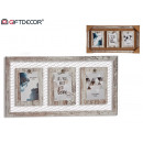 triple clamp photo holder, 2 times assorted