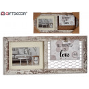 double horizontal photo frame clip, 2 times assort