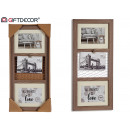 triple verticl photo holder clip, 2 times assorted