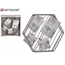hexagon wire photo holder