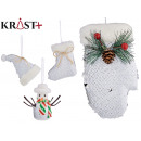 wholesale Shoes: Assorted whitened boot and doll hanging ornament