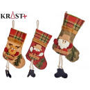 socks to hang with feet, 3 times assorted
