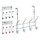 door rack with 4 arms colors 3 times assorted