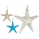 large polyresin sea star, colors 3 times its