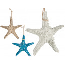 medium polyresin sea star, 3 times colors